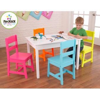 Mesa Y Silla Infantil S5d8 Pra Set Mesa Y 4 Sillas Infantil Colores Brillantes Kidkraft