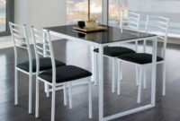 Mesa Y Sillas Cocina Kvdd Mesa De Cocina Con 4 Sillas Barata Color Blanco Y Negro Barato Y Funcional