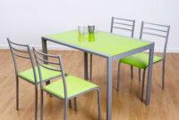 Mesa Y Sillas Drdp Conjunto De Mesa Y 4 Sillas Alfa En Colores Muebles Baratos Online