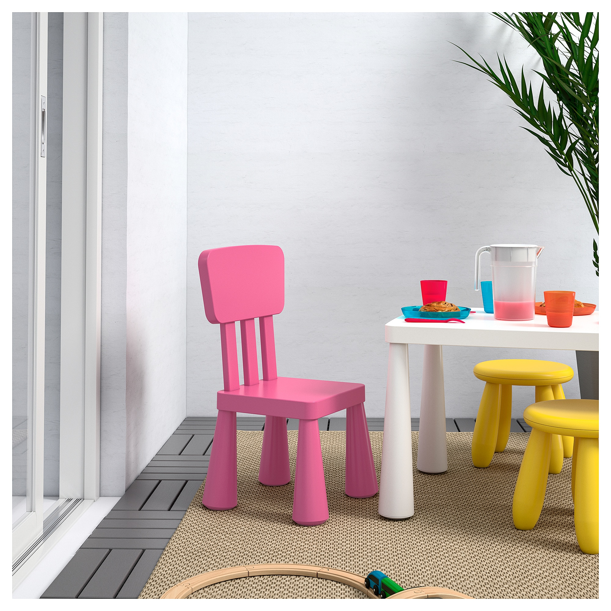 Mesa Y Sillas Para Balcon Pequeño Fmdf Mammut Silla Para Nià O Int Ext Rosa Ikea