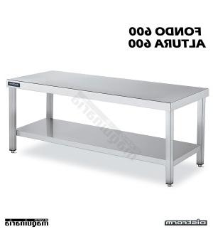 Mesas Acero Inoxidable Drdp Mesa Acero Inoxidable Industrial Altura 600 Fondo 600
