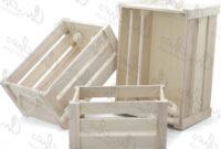 Mesas Baratas Nkde Set 3 Large Wooden Boxes