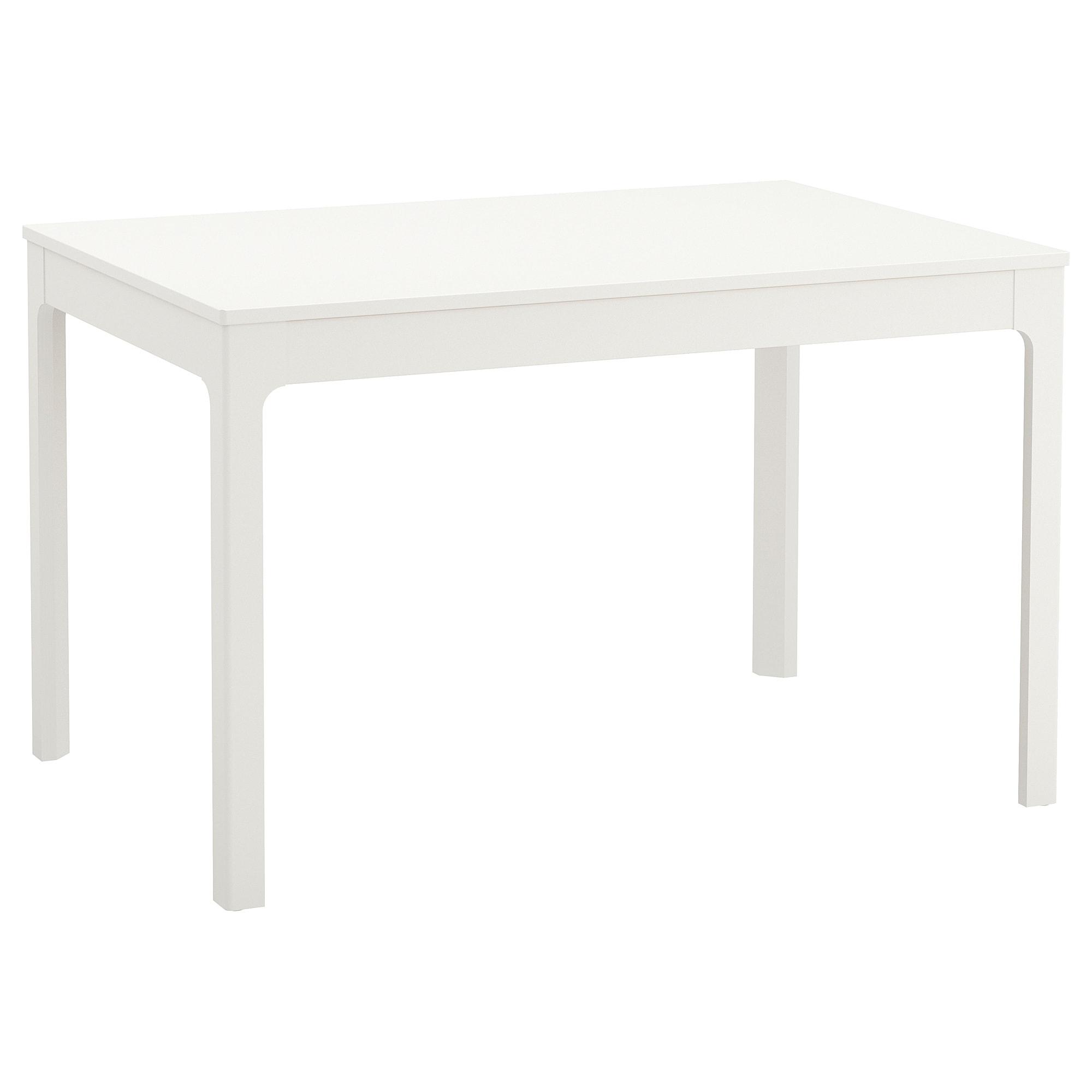 Mesas Blancas Drdp Ekedalen Mesa Extensible Blanco 120 180 X 80 Cm Ikea