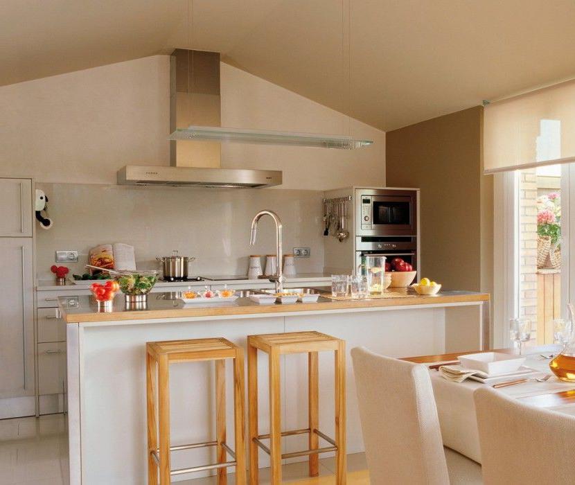 Mesas Cocina Pequeñas Nkde Desayunador En Cocinas Pequeñas 830x700 Cocinas Pequeà as Con