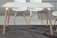 Mesas Comedor Modernas H9d9 Mesa Edor Moderna Tapa Blanca Patas Haya Color Blanco