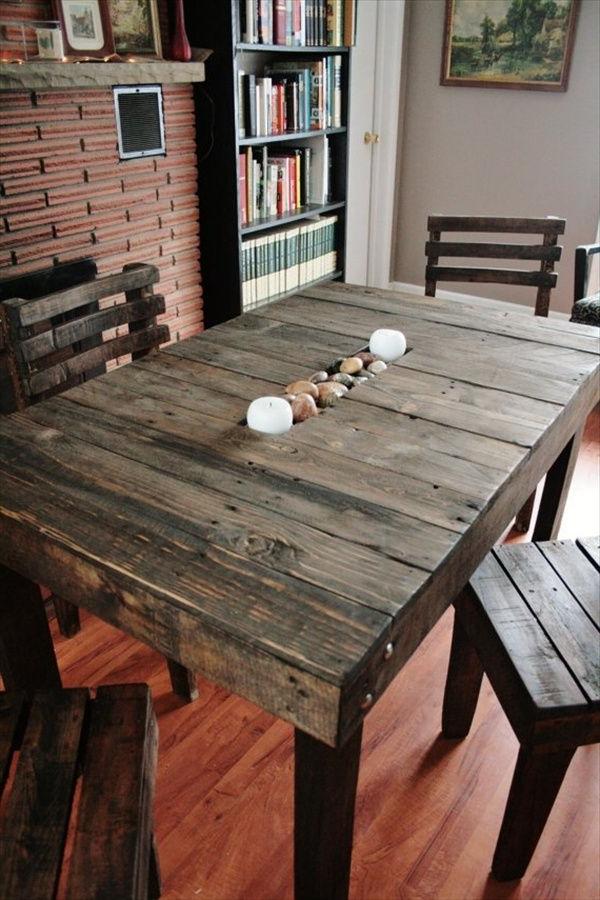 Mesas Con Palets S5d8 50 Ideas De Mesas Hechas De Palets Y Tutorial De Cà Mo Hacerlas