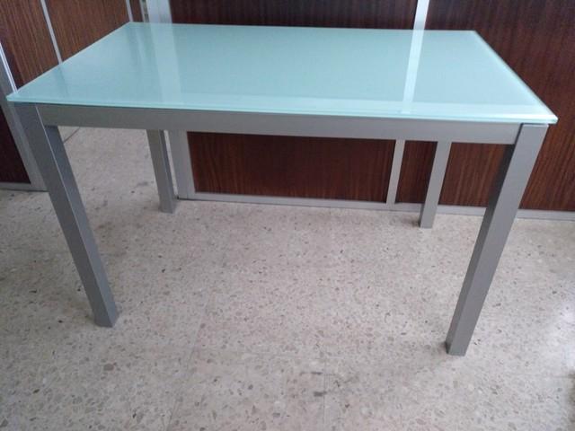 Mesas De Aluminio Rldj Mil Anuncios Mesas Fijas Aluminio Tapa Cristal Blanco