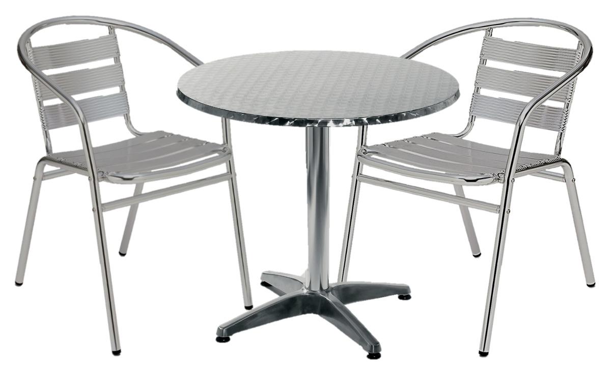 Mesas De Aluminio T8dj Set De Mesa Redonda 2 Sillones De Aluminio 7 De Tablas 3 920