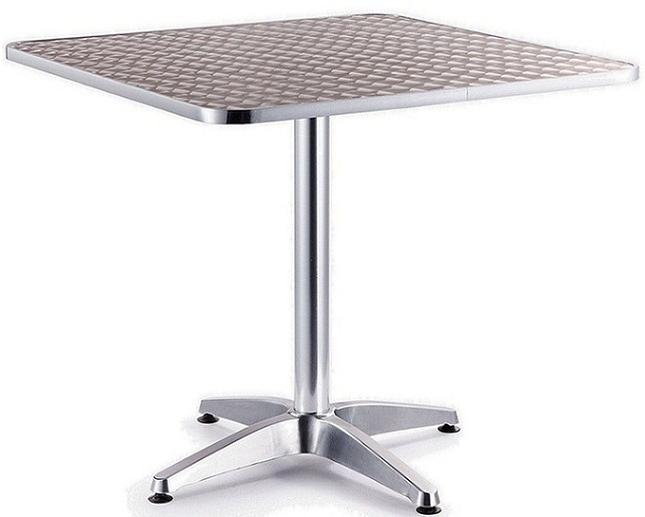 Mesas De Aluminio Thdr Mesa De Aluminio Para Restaurante De 80 X 80 1 800 00 En Mercado