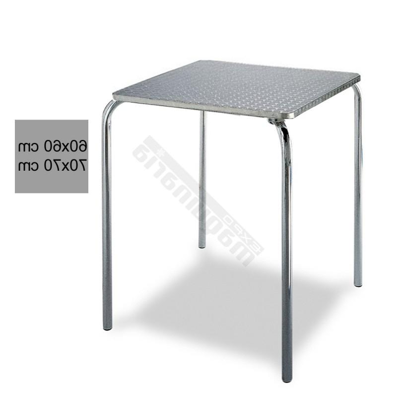 Mesas De Aluminio Txdf Mesa Bar Terraza 3r29alc Inox Apilable De Aluminio