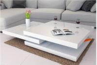 Mesas De Centro Salon Fmdf Mesa De Centro Blanca Brillante
