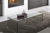 Mesas De Centro Salon Ipdd Mesa De Centro De Diseà O Cristal Transparente Para Edor O Salà N 35x110x60 Cm