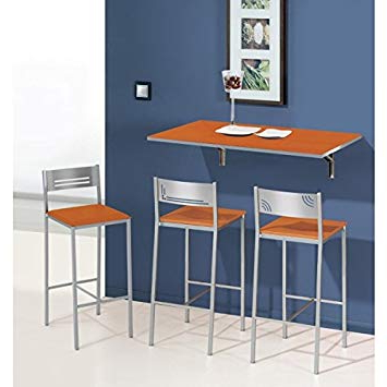 Mesas De Cocina Abatibles 0gdr Mesa De Cocina Abatible De Pared 90×50 Cm Con Tapa De Cristal