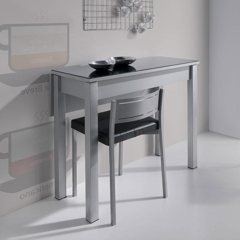 Mesas De Cocina Abatibles Drdp Mesa Cocina De Cristal Con Ala Abatible De Mdf Prar Ahora