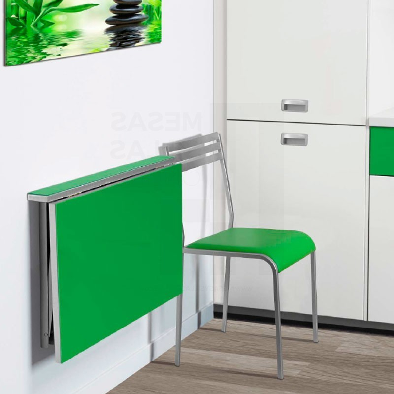 Mesas De Cocina Abatibles E6d5 Mesa De Cocina Abatible Para Pared En Cristal Templado Mod Wall