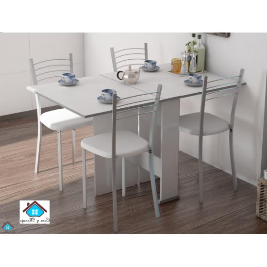 Mesas De Cocina Abatibles H9d9 Conjunto Mesa Alas Abatibles De Cocina Con Alas Y 4 Sillas Swing