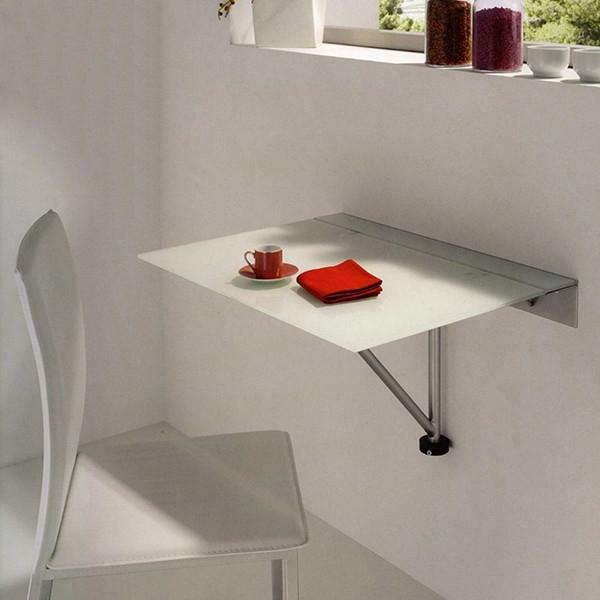 Mesas De Cocina Abatibles Nkde Mesa De Cocina Abatible Con Tapa De Cristal