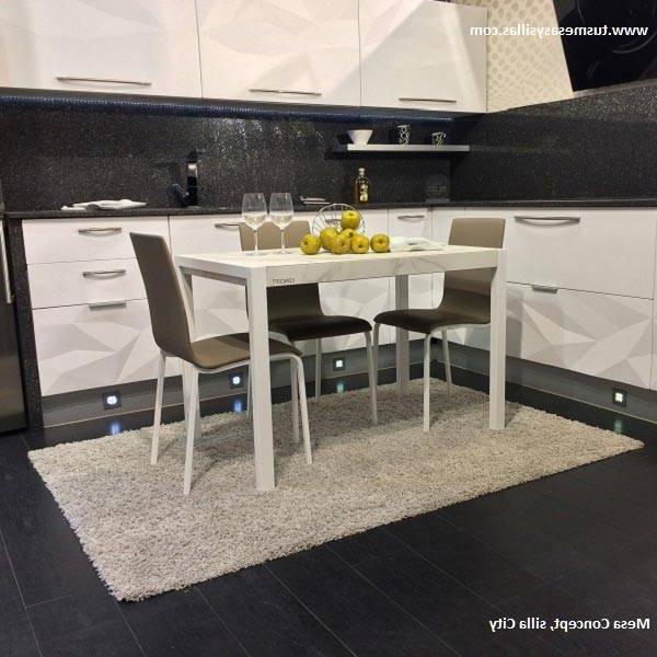 Mesas De Cocina Modernas Kvdd Mesa Cocina Moderna Extensible Concept Cancio Blanca Negra