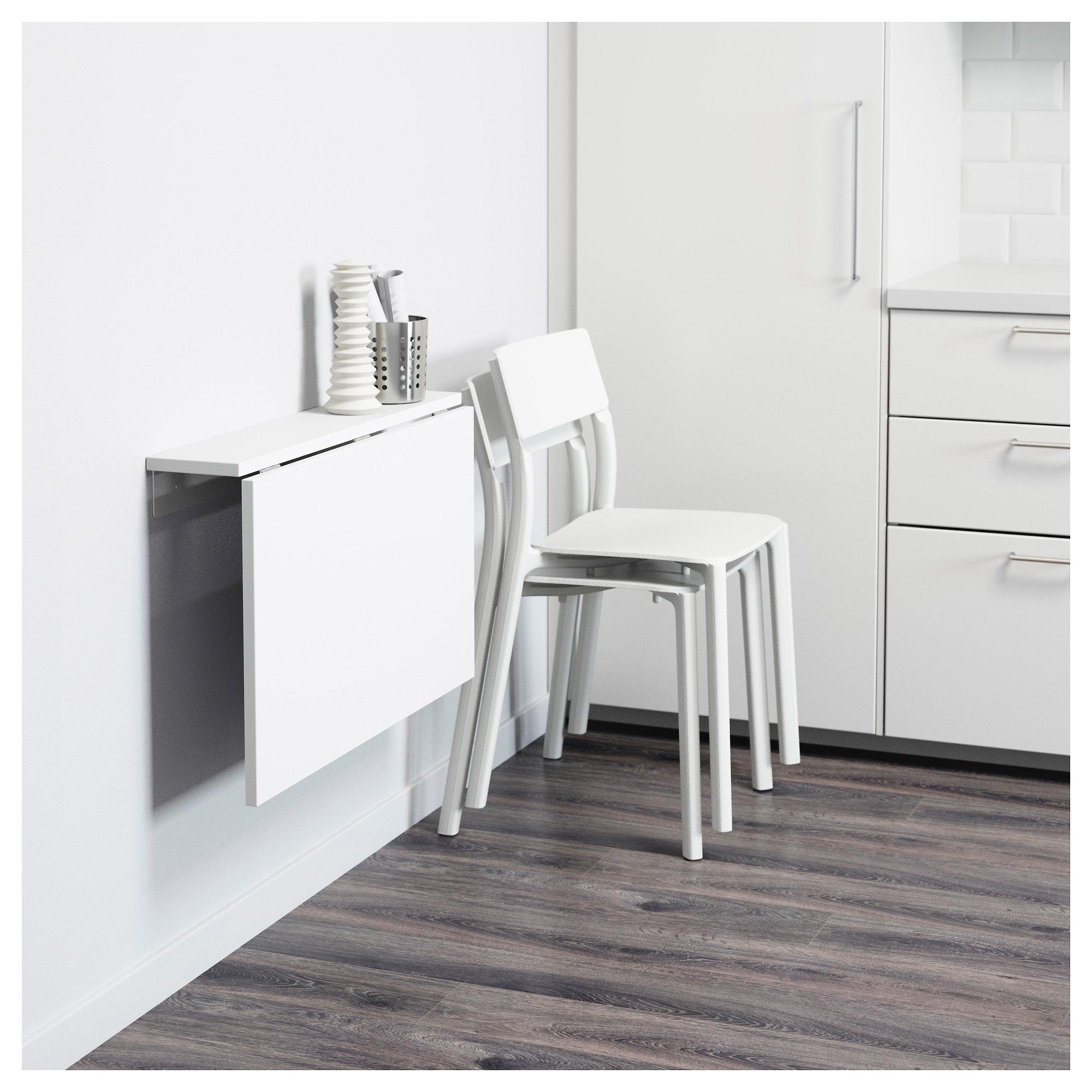 Mesas De Cocina Plegables Ikea D0dg norberg Mesa Abatible De Pared Blanco 74 X 60 Cm Ikea