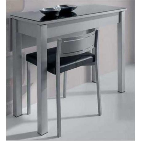 Mesas De Cocina Plegables Mndw Mesa Cocina Plegable Cristal 2 Colores Color Negro Blanco