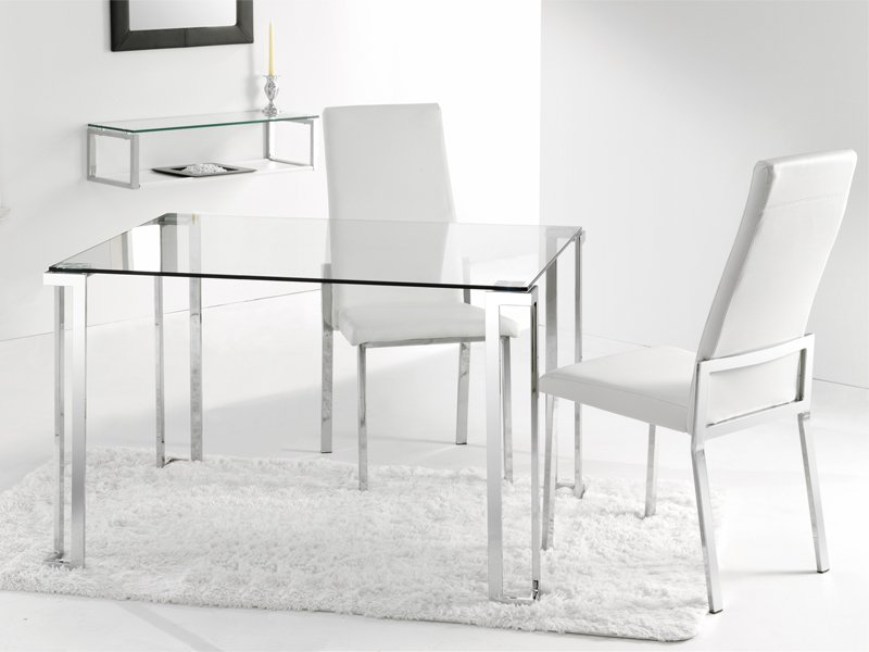 Mesas De Comedor Cristal 4pde Mesa Y Sillas De Edor Moderno Con Cristal Transparente