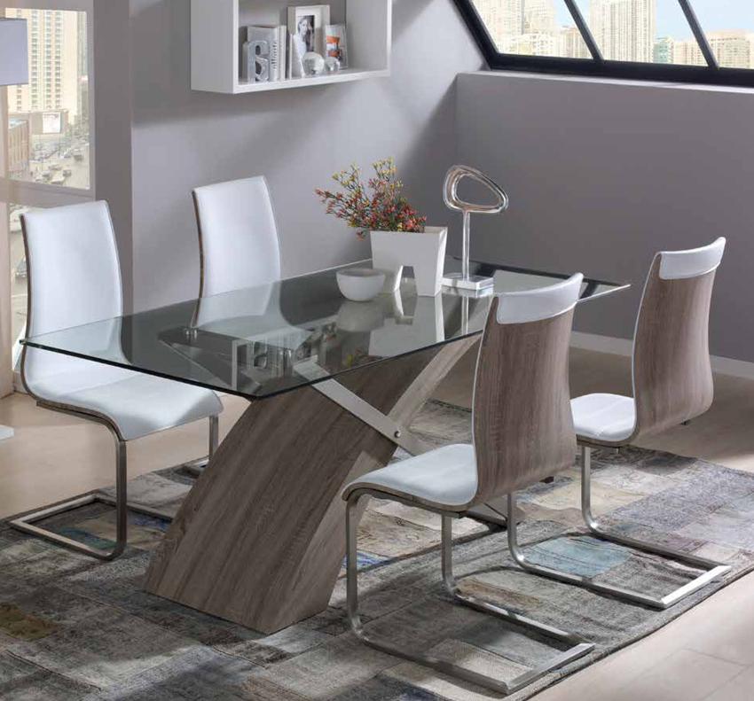 Mesas De Comedor Cristal Q0d4 Edor Mesa Moderna Aramis