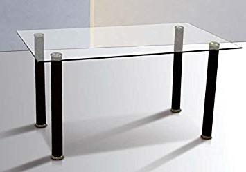 Mesas De Comedor Cristal Txdf Mobelcenter Mesa Edor Cristal Transparente 140x75cm 0856