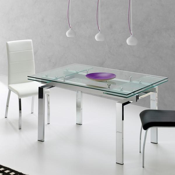 Mesas De Comedor De Cristal Etdg Mesa De Edor Extensible Mod Sandy