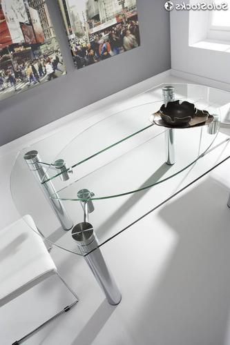 Mesas De Comedor De Cristal Extensibles 0gdr Mesa De Edor De Cristal Rectangular Extensible A Redonda