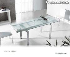 Mesas De Comedor De Cristal Extensibles Ffdn Mesa Edor Cristal Extensible 3605 Para Tu Hogar