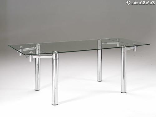 Mesas De Comedor De Cristal Extensibles Q5df Mesa De Edor Cristal Rectangular Extensible