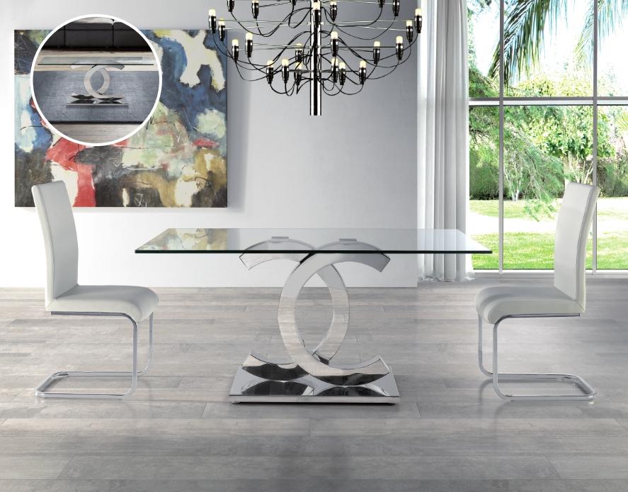 Mesas De Comedor De Cristal Jxdu Mesa De Edor Chanel