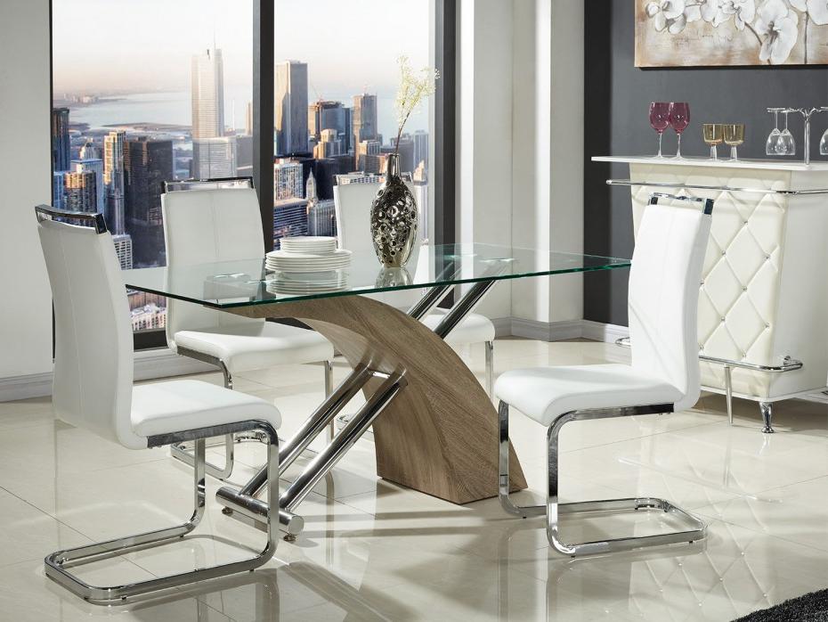 Mesas De Comedor De Cristal Q0d4 Mesa Edor Metal Y Cristal Templado 6 Ensales Sheila