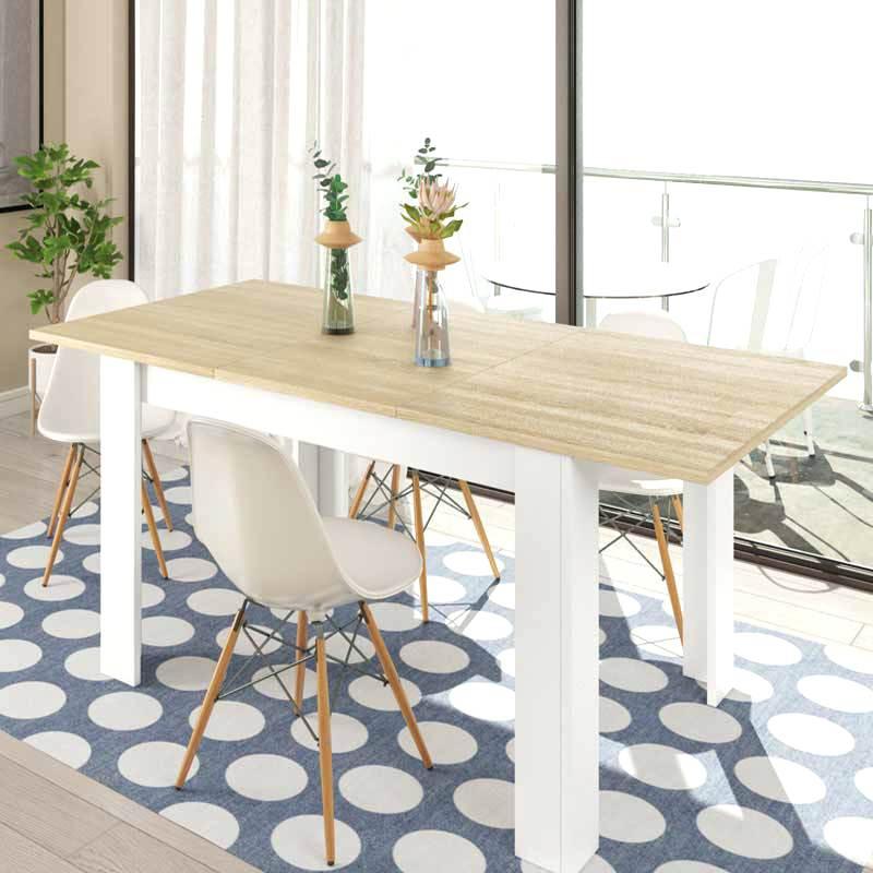 Mesas De Comedor Extensibles Ikea Nkde Mesa Edor Extensible Roble Polar Blanca Lacada Cabalaskills