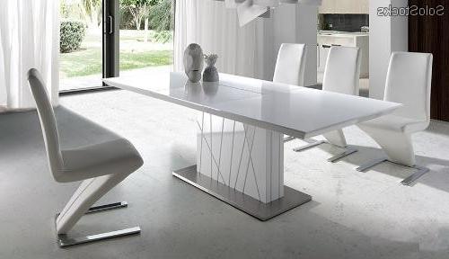Mesas De Comedor Gdd0 Mesa De Edor Extensible Lacado Blanco 160 220×90 Imperium