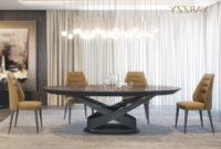 Mesas De Comedor Ovaladas Bqdd Ambiente Edor Moderno Mesa Ovalada Extensible Madera Acabado MÃ Rmol Varzzy