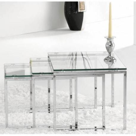 Mesas De Cristal Baratas 8ydm Mesas Nido De Diseà O En Cristal Baratas Y Practicas