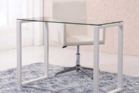 Mesas De Cristal Baratas Y7du Mesa De Escritorio Benneto 100×50 Color Cristal Traslúcido