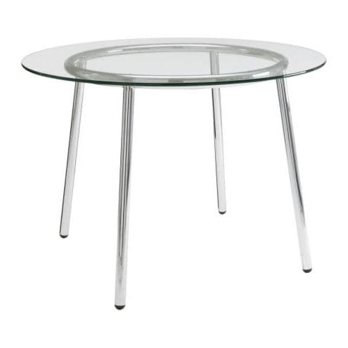 Mesas De Cristal Ikea Nkde Salmi Mesa Vidrio Cromado 105 Cm Ikea