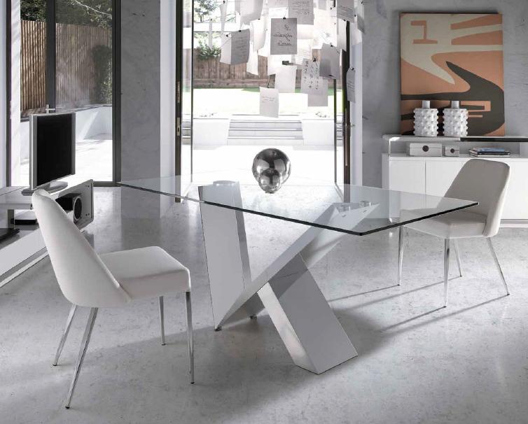 Mesas De Cristal Para Comedor X8d1 Mesa De Edor Fija Cristal Transparente