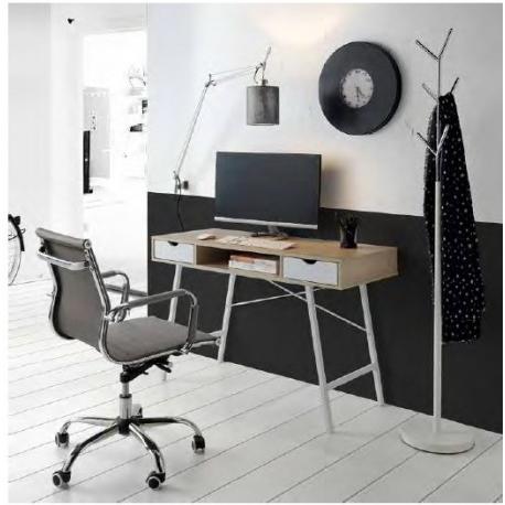 Mesas De Despacho Baratas Budm Mesa Despacho Moderna Color Nogal Negro Cambrian Blanco