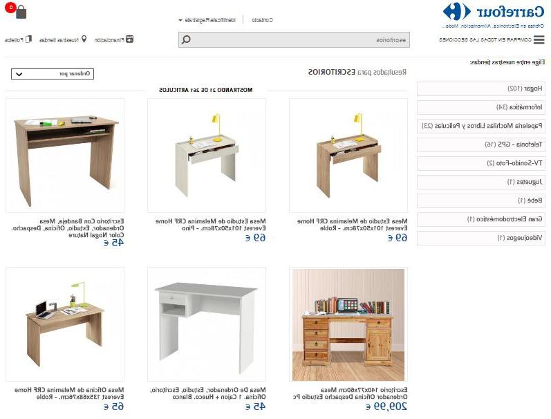 Mesas De Estudio Carrefour Zwd9 Escritorios Carrefour Diseà Os Y Materiales Duraderos