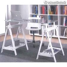 Mesas De Estudio De Cristal S5d8 Mesa De Mesas De Estudio De Base Caballetess Regulables En Altura Y