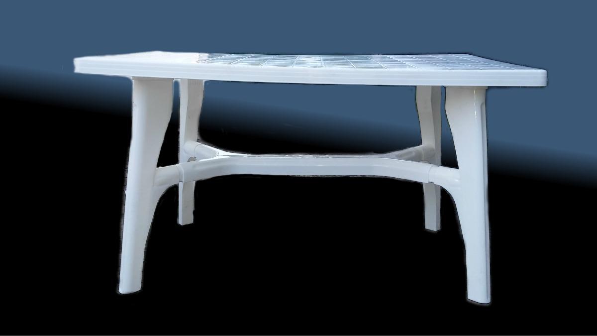 Mesas De Jardin De Plastico Zwdg Mesa Plastico Reforzado Blanco Ideal Jardin Exteriores 1 199 00