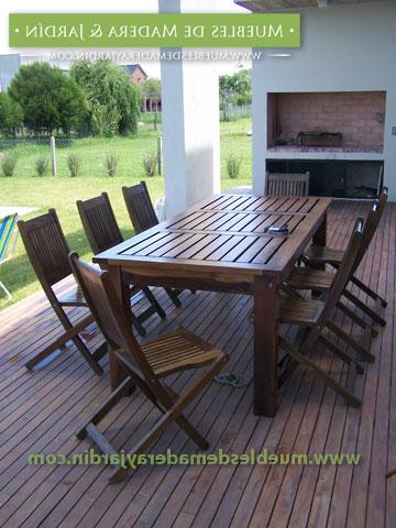 Mesas De Madera Exterior Whdr Mesa De Guayubira Maciza Para Exterior El Blog De Muebles De