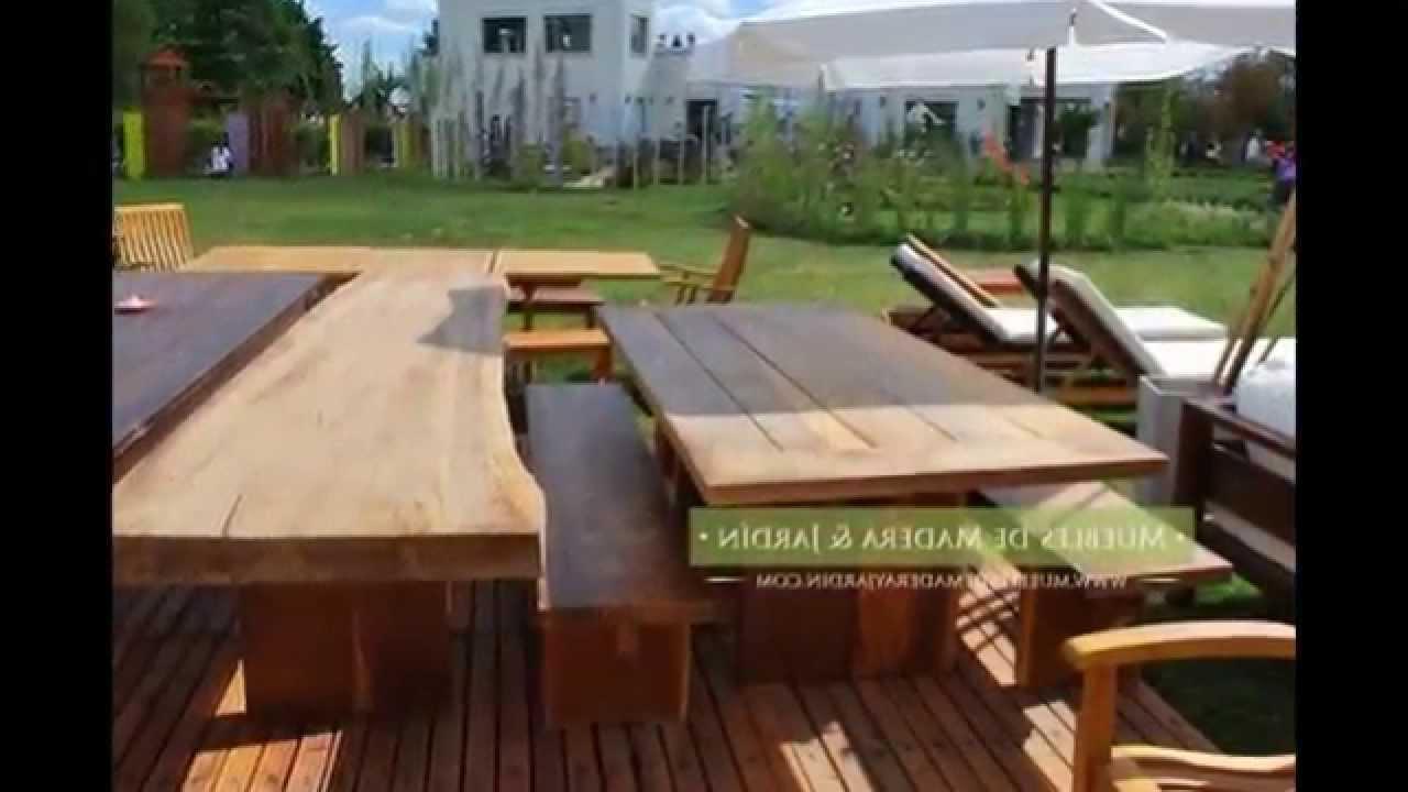 Mesas De Madera Exterior Whdr Mesas De Madera Muebles De Madera Y Jardà N Youtube