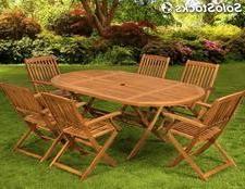 Mesas De Madera Para Jardin 9fdy Mesa Con 6 Sillas Mueble De Madera Para Tu Jardin Patio Terraza