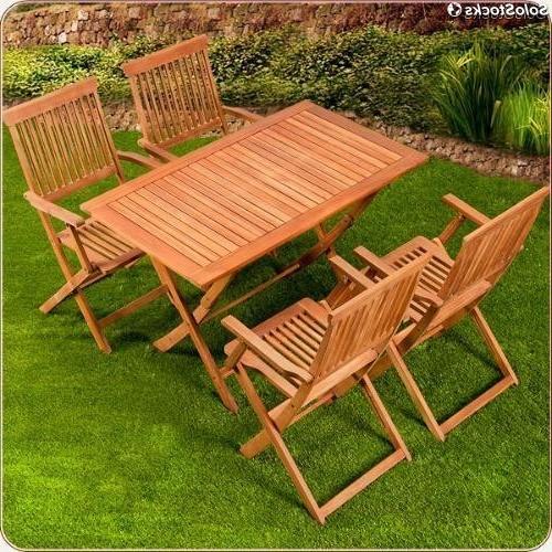 Mesas De Madera Para Jardin Dwdk Mesa De Madera Y 4 Sillas En Conjunto Para Jardin