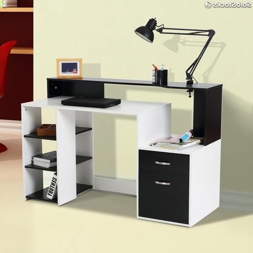 Mesas De ordenador 0gdr Hom Mesas ordenador Madera Blanco Negro 140x55x92cm