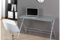 Mesas De ordenador Baratas S5d8 Mesa De ordenador Cristal Y Acero Color Cristal Traslúcido